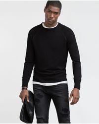Zara | Black Viscose Sweater for Men | Lyst