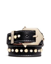 Givenchy | Black Stud Calf Leather Bracelet | Lyst