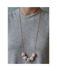 Spectrum | Natural Faceted Wood Necklace | Lyst