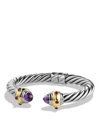 David Yurman | Purple Renaissance Bracelet With Amethyst, Rhodalite Garnet And Gold | Lyst