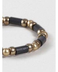 LAC - Black Beaded Stretch Bracelet* for Men - Lyst
