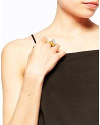 Ottoman Hands | Gray Rough Chalcedony Ring | Lyst