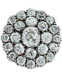 Olivia Collings - Metallic Old Cut Diamond Button Ring - Lyst