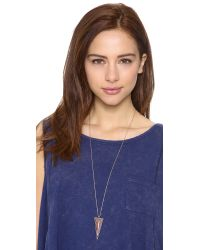 House of Harlow 1960 - Pink Delta Pendant Necklace - Lyst