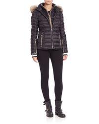 Bogner - Black Kelly Fur-trimmed Short Puffer Jacket - Lyst