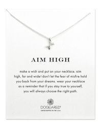 Dogeared - Metallic Aim High Sterling Silver Pendant Necklace - Lyst