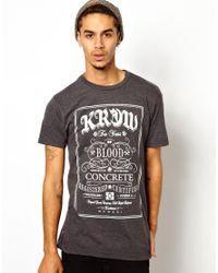 KR3W - Gray Tshirt with Blood and Concrete for Men - Lyst