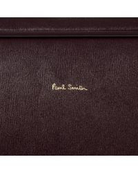 Paul Smith - Metallic Damson 'city Embossed' Leather Business Folio for Men - Lyst