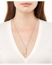 True Rocks - Metallic Small Silver Screw Necklace - Lyst