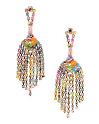 Tom Binns | Multicolor A Riot Of Colour Fringe Earring | Lyst