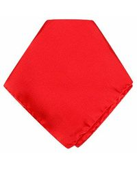 FORZIERI - Red Silk Pocket Square - Lyst