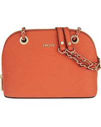 DKNY | Orange Bryant Park Small Round Satchel | Lyst