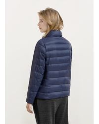 Violeta by Mango - Blue Quilted Feather Coat - Lyst