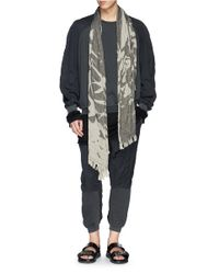 Haider Ackermann - Black Cotton-Cashmere Rib Knit T-Shirt for Men - Lyst