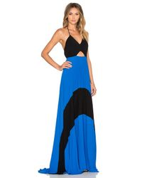 Karina Grimaldi - Blue Fabi Pleated Maxi Dress - Lyst