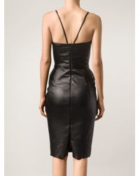 Talbot Runhof - Black Strapless Dress - Lyst