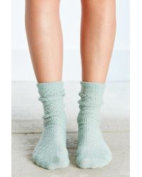 Urban Outfitters | Green Diamond + Chevron Boot Sock | Lyst