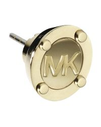 Michael Kors - Metallic Heritage Gold Astor Stud Earrings - Lyst