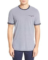 Ted Baker - Blue 'tempoe' Stripe Crewneck T-shirt for Men - Lyst