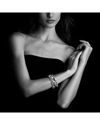 David Yurman | Metallic Oval Large Link Bracelet With Diamonds | Lyst