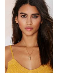 Nasty Gal | Metallic Livin' Is Easy Pineapple Necklace | Lyst