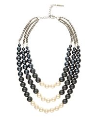 Jaeger | Metallic Graduated Pearl Necklace | Lyst