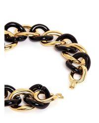 Kenneth Jay Lane - Black Chain Link Choker Necklace - Lyst