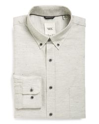 W.r.k. | Natural Extra Trim Fit Nepped Oxford Dress Shirt for Men | Lyst