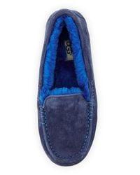 UGG | Blue Ansley Moccasin Slipper | Lyst