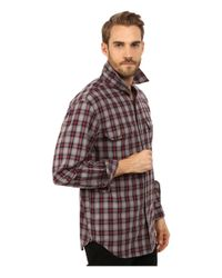Carhartt | Red Fort Plaid Long Sleeve Shirt for Men | Lyst