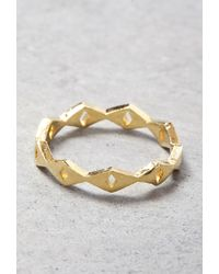 Forever 21 | Metallic Makko Linked Arrow Ring | Lyst