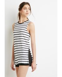 Forever 21 - Black Striped Linen Tank - Lyst