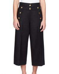 Sacai - Black Luck Sailor Culotte Pants - Lyst