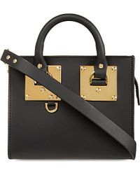 Sophie Hulme | Black Mini Box Leather Albion Tote | Lyst