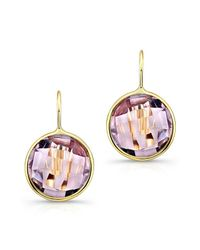 Anne Sisteron - Purple 14kt Yellow Gold Pink Amethyst Earrings - Lyst