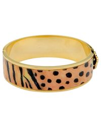 Halcyon Days | Black 18ct Gold Plated Bangle | Lyst