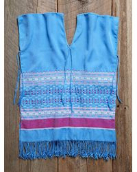 Free People - Blue Vintage Guatemalan Huipil Top - Lyst
