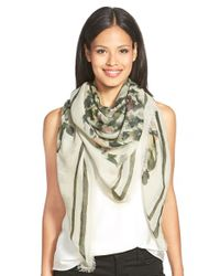 Lafayette 148 New York - Multicolor 'beguiling Garden' Scarf - Lyst