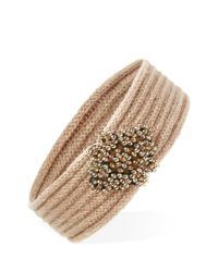 Forever 21 | Pink Beaded-front Headwrap | Lyst