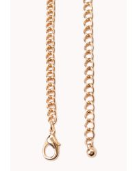 Forever 21 - Metallic Femme Cluster Faux Stone Necklace - Lyst
