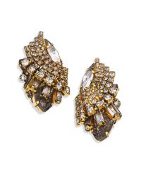 Erickson Beamon | Metallic Young & Innocent Crystal Tiered Button Earrings | Lyst