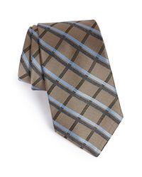 Michael Kors | Red 'more' Plaid Silk Blend Tie for Men | Lyst