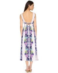 Mara Hoffman - Purple Deep V Dress With Bandeau - Lyst
