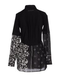 MM6 by Maison Martin Margiela - Black Short Dress - Lyst