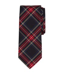 Brooks Brothers - Black Tartan Tie for Men - Lyst