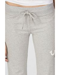 True Religion | Gray Big T Womens Sweatpant | Lyst