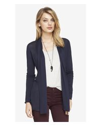 Express - Blue Ribbed Inset Cover-Up - Lyst