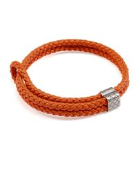 Bottega Veneta | Red Men's Woven Leather Bracelet | Lyst