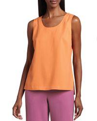 Go> By Go Silk - Orange Easy-Fit Silk Tank - Lyst