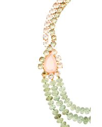 Bounkit | Multicolor Rose Quartz, Clear Quartz And Green Amethyst String Necklace | Lyst